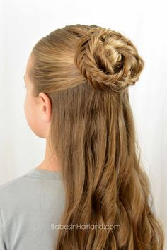 Half Up - Boho Bun from BabesInHairland.com #boho #fishbonebraids #curls #hairstyle