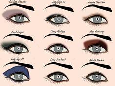 palette looks inspired by stars: Scarlett Johansson, Lady Gaga (1  2), Hayden Panettiere, Avril Lavigne, Carey Mulligan, Anne Hathaway, Zooey Deschanel, Natalie Portman