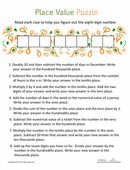 This math worksheet is a real puzzler -- are you up for the challenge?