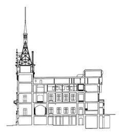 - cross-section. Castle Floor Plan, Peles Castle, Cross Section, Romania, Sims 4, Architecture Design, Floor Plans, Building, Ideas