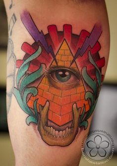 Illuminati inspired tattoo by Ben Shaw @benshawtattoos
