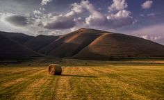 lone hay bail Photo by Emanuele Zallocco -- National Geographic Your Shot