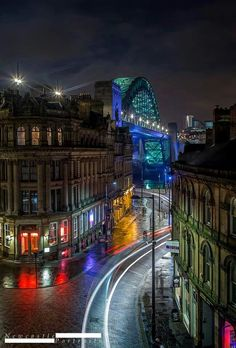Quayside Newcastle, with Tyne Bridge. - Quayside Newcastle, with Tyne Bridge. Newcastle Quayside, Newcastle England, Northern England, North East England, Slow Travel, England And Scotland, Night City, City Photography, Great Britain