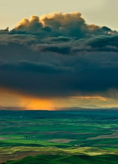 Storm over land.