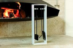 Etoile has the tools to keep your fireplace tidy, in a simple and stylish housing the where each implement has its place. Streamlined and contemporary, Eto Tool Set, Contemporary, Modern, Locker Storage, Interior Design, Simple, Fire, Furniture, Stylish