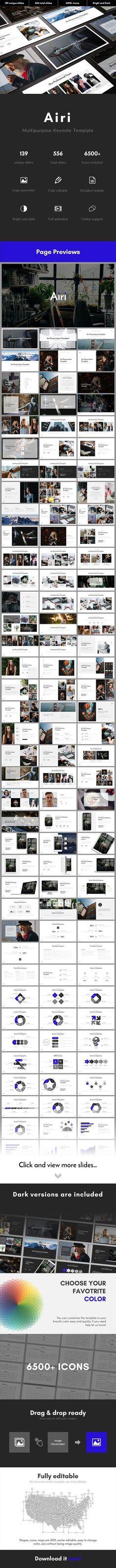 Airi Multipurpose Keynote Template - Keynote Business Presentation Template by Jiani_design. Business Presentation Templates, Presentation Design Template, Business Templates, Presentation Slides, Design Templates, Slide Background, New Bus, Slide Design, Google