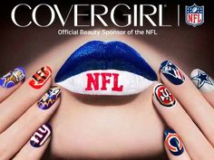 Show your team colors with NFL - COVERGIRL Outlast Stay Brilliant Nail Gloss bundles! #beauty
