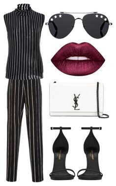 """""""Untitled #950"""" by arianas12 ❤ liked on Polyvore featuring Protagonist, Carven, Yves Saint Laurent, Givenchy and Lime Crime"""
