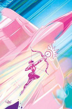 Elsa Charretier signe la couverture de Mighty Morphin Power Rangers: Pink ! #cocorico