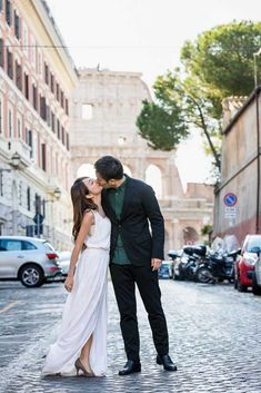 Wedding Couple Photo Session Photography in Rome Italy. On a car ride to take couple pictures through some of the most scenic and panoramic roman locations Wedding Couple Photos, Couple Pictures, Wedding Couples, Wedding Photoshoot, Photoshoot Ideas, Alleyway, Rome Italy, Couple Posing, Kissing