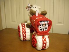 Farmall Tractor Diaper Cake by ShelvasDiaperCakes on Etsy                                                                                                                                                                                 More