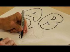To draw bubble letters, draw elliptical shapes in place of straight lines in pencil, trace the outline in marker and erase erroneous pencil marks. Doodle Lettering, Creative Lettering, Graffiti Lettering, Lettering Styles, Typography, Alphabet Stencils, Alphabet Art, Printable Alphabet, Free Printable