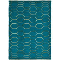 Wedgwood Arris Rug - Teal - 120x180cm ($481) ❤ liked on Polyvore featuring home, rugs, green, coloured rug, teal green rug, teal colored rugs, geometric area rugs and teal blue area rugs