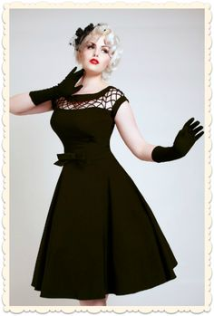 robe-retro-swing-pin-up-vintage-noire-annees-50-alika-tatyana-bettie-page-clothing
