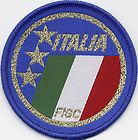 Italia Italy Retro 80's / 90's Football Badge Patch 7.1cm x 7.1cm Circle http://www.wovenbadge.com/
