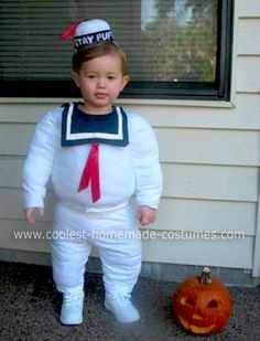 Homemade Stay Puft Marshmallow Man Ghostbuster Costume
