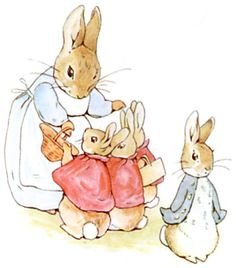 Beatrix Potter things: grew up reading her Peter Rabbit (my brother's name is Peter) went to England and bought children's china for my children, then crib linens for my grandchildren. it goes on