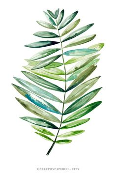 Tropical Leaf Print Gift For Her Botanical Art In Watercolour Leaf Modern Art Green Print Minimalist Tropical Wall Art Large Poster - Painting Art Tropical, Tropical Leaves, Tropical Posters, Watercolor Leaves, Watercolor Art, Art Aquarelle, Modern Art Prints, Wall Art Prints, Canvas Prints