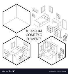 Find Bedroom Interior Creator Vector Isometric Cutaway stock images in HD and millions of other royalty-free stock photos, illustrations and vectors in the Shutterstock collection. Thousands of new, high-quality pictures added every day. Isometric Sketch, Isometric Cube, Isometric Design, 3d Presentation, Perspective Drawing Lessons, Drawing Cartoon Faces, Bedroom Drawing, Interior Design Sketches, Art Deco Posters