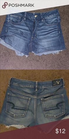 Shop Women's American Eagle Outfitters Blue size 6 Jean Shorts at a discounted price at Poshmark. Description: stretchy, were one of my favorite pairs! fits size Sold by murphytcurry. American Eagle Dress, American Eagle Sweater, Popular Girl, American Eagle Outfitters Shorts, Ladies Dress Design, Ripped Jeans, Jean Shorts, Fashion Design, Fashion Trends