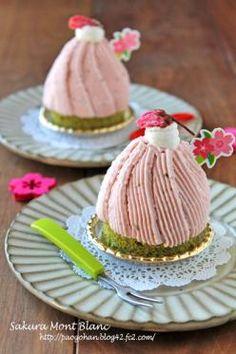 「抹茶と苺の桜モンブラン☆」ぱお | お菓子・パンのレシピや作り方【corecle*コレクル】