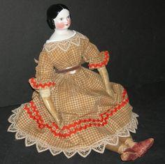 "China Head - 17"" - German Antique Doll - Nice Original Old Body w/ from preciousrosey on Ruby Lane"