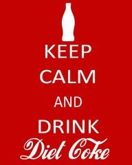 Diet Coke.  If you can't stay calm, for God's sake, add Vodka.