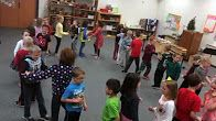 Videos of many singing games for lower elementary kids.