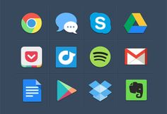 PSD Freebie: Some colorful flat icons PSD