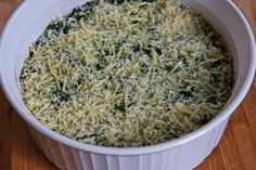 Kalyn's Kitchen®: Spinach and Feta Casserole with Brown Rice and Parmesan
