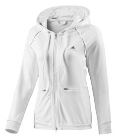 Look at this adidas x Stella McCartney White Warm-Up Hoodie on #zulily today!