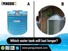 #Plastic water storage tank does not corrode over time, like the metal ones. Chose which water storage tank would you rater install in your property for daily usage. use the comment section to write your answers.