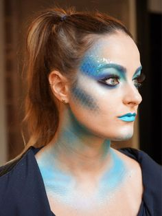 Halloween Makeup Idea: Pretty Fish: Makeup: allure.com This would be great to use as part of a mermaid costume, Imagine the color options!