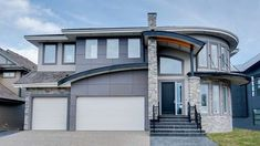 Three-bed Modern House Plan with curved entry - 81690AB thumb - 01