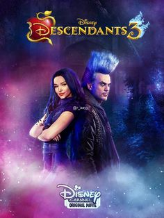 Descendants 3 Poster - Hades and Mal - Fanart by RaayB on DeviantArt DeviantArt is the world's largest online social community for artists and art enthusiasts, allowing people to connect through the creation and sharing of art. The Descendants, Descendants Characters, Disney Channel Movies, Disney Channel Original, Original Movie, Zombie Disney, Dreamworks, Pixar, Cheyenne Jackson