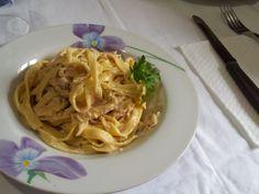 #Tagliatelle al #tonno e #curry