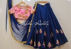 Do well...live well.. and DRESS REALLY WELL.- Beautiful blue color designer blouse and blush pink color designer blouse with floral design hand embroidery thread workDress Code : LR-LG54Can be customize to your favourite colour combo...!!Email:lekhareddydesigns@gmail.comPhone Whatsapp: +91 8790797505 . 17 September 2017