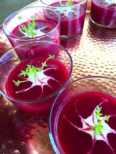 Organic beetroot gazpacho - not only a beauty to look at but incredibly nourishing and delicious. A perfect lunchtime treat for those warm days. Retreat heaven..