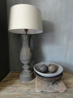 grey lamp white shade