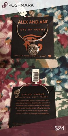 JUST IN🎉 Alex & Ani Silver Eye of Horus Bangle Brand New With Tag! ⛔️ NO TRADES, NO PAYPAL, NO MERCARI, NO HOLDS ⛔️ smoke free, pet free home 😊 let me know if you have other questions 😊 PLEASE MAKE OFFERS THROUGH THE OFFER BUTTON.😊 Alex & Ani Jewelry Bracelets
