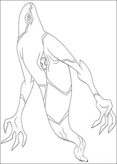 Ghostfreak The Aliens Ben 10 Coloring Pages