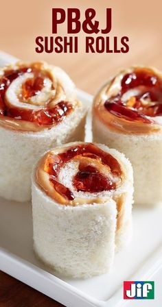 Looking for a fun new twist on lunch? These PB&J Sushi Rolls from Jif®️ are sure to be a new favorite lunchbox treat for kids. Made with peanut butter and your favorite Smucker's® Jam, Jelly or Preserves, this finger food is fun, satisfying and easy to make!