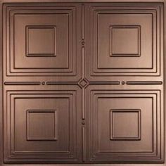 A traditional tin design, Jackson Faux Bronze Ceiling Tiles create an atmosphere of rich antiquity and have a classic stamped metal ceiling look that will enrich any environment.