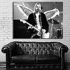 Art Poster Wall Mural Kurt Cobain Nirvana 35x47 inch (90x120 cm) on Canvas #09