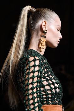 Magdalena Frackowiak at Balmain - Paris Fashion Week Spring 2016