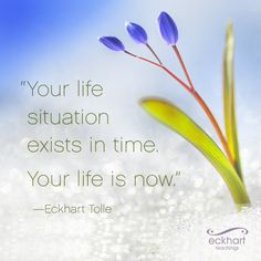 Your life situation exists in time. Your life is now. Belief Quotes, Wisdom Quotes, Spiritual Awakening, Spiritual Quotes, Ekhart Tolle, Power Of Now, A Course In Miracles, Spiritual Teachers, Spiritual People