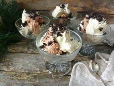 Sjokoladeostekake i glass - Fra mitt kjøkken My Glass, Ice Cream, Pudding, Desserts, Food, No Churn Ice Cream, Tailgate Desserts, Deserts, Icecream Craft