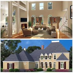 European Style House Plan 65995 is dressed up with board and batten vertical siding, arched windows and entryways and a steep, hipped roof design. A total of 3096 square feet of living space allows for 4 bedrooms and 4.5 bathrooms. Read more from our latest blog: http://blog.familyhomeplans.com/2015/02/new-european-style-house-plan/ or click here for the plan specifications: http://www.familyhomeplans.com/plan_details.cfm?PlanNumber=65995&OrderCode=26WEB