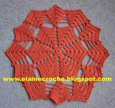 Crochet Coaster Pattern, Crochet Mat, Crochet Motif Patterns, Crochet Dollies, Crochet Blocks, Crochet Diagram, Crochet Squares, Filet Crochet, Crochet Flowers