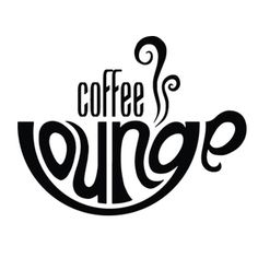 Coffee Lounge cafe typography logo design by Jonty Howley of MAGIC CABIN studios, effective use of type and shape